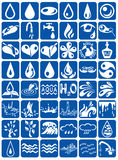 Aqua icons Royalty Free Stock Photos