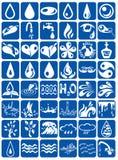 Aqua ikony ilustracji