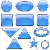 aqua ikony szklany zestaw Zdjęcia Stock