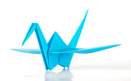Aqua Japan origami crane Stock Image