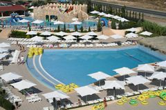 Aqua Land near Sunny Beach, Bulgaria Stock Images