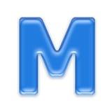 Aqua letter Stock Photo