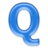 Aqua letter Stock Photos