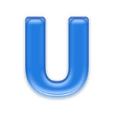 Aqua letter Royalty Free Stock Image