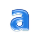 Aqua letter Royalty Free Stock Images