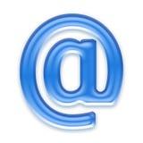 Aqua letter. Aqua email symbol isolated on a white background Royalty Free Stock Photo