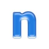 Aqua letter Stock Image