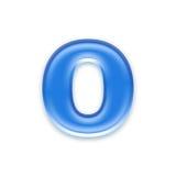 Aqua letter Stock Images
