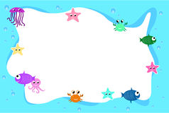Aqua life frame background Stock Photo