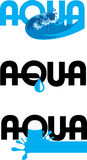 Aqua Logo Illustration Libre de Droits