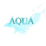 Aqua. Logo of aqua look like splashed water Royalty Free Stock Photo