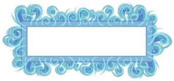 aqua logo niebieska strony sieci Obrazy Stock