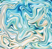 Aqua marble abstract background. Mesh liquid surface digital illustration. Royalty Free Stock Photos