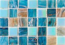 Aqua mosaic tiles Royalty Free Stock Photo