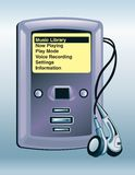 Aqua MP3 Player Stock Photo