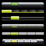 aqua nawigaci szablonów sieć Obrazy Stock