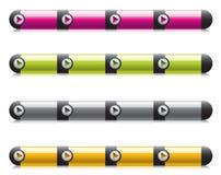 aqua nawigaci szablonów sieć Fotografia Stock