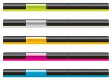 aqua nawigaci szablonów sieć Zdjęcia Stock