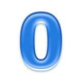 Aqua number Royalty Free Stock Image