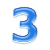 Aqua number. Isolated on a white background Royalty Free Stock Photo
