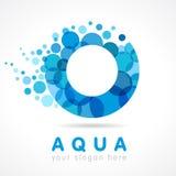 Aqua O Coloured Logo Royalty Free Stock Photography