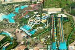 Aqua park. Giant aqua park - top view royalty free stock image