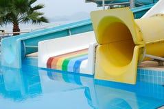 Aqua park. An aqua park in the Turkish hotel Royalty Free Stock Photography
