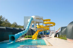 Aqua park, Antalya, Turkey. Aqua park in popular hotel, Antalya, Turkey Royalty Free Stock Photos