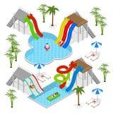 Aqua Park Concept Isometric View Vecteur Illustration Libre de Droits