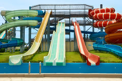Aqua park constructions Royalty Free Stock Photos