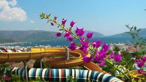 Aqua Park in der Türkei stock video