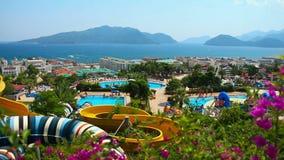 Aqua Park in der Türkei stock footage