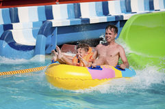 At aqua park Royalty Free Stock Photos