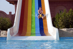 Aqua park fun Royalty Free Stock Photo