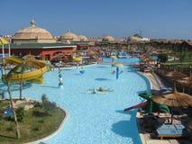 Aqua park hotel stock photos