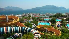 Aqua Park i Turkiet arkivfilmer