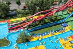 Aqua Park Mamaia Romania Lizenzfreies Stockfoto
