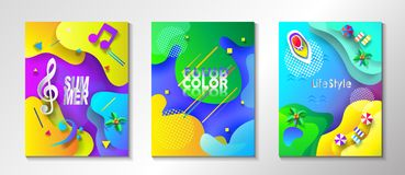 Aqua Park Music Festival Tropical Sea Beach craft. Abstract Summer Tropical Blue Sea Beach scene top view, Concept - Music Festival and Islands travel ship yacht Royalty Free Stock Photography