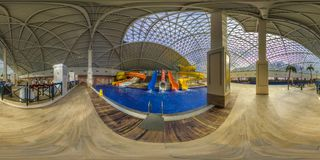 Aqua Park nella città di Gorki Sochi, Krasnaya Polyana fotografia stock