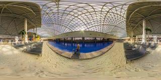 Aqua Park nella città di Gorki Sochi, Krasnaya Polyana fotografia stock libera da diritti