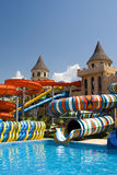 Aqua park in the open air.  Royalty Free Stock Images