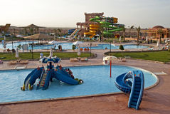 Aqua park - panoramic view Royalty Free Stock Photography