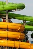Aqua park pipes Stock Photos