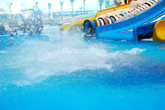 Aqua park and a pool Royalty Free Stock Images