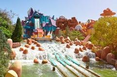 Aqua park slide ride Royalty Free Stock Photography