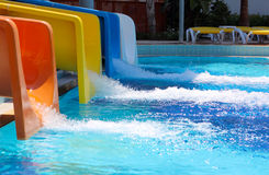 Aqua park slides Royalty Free Stock Images