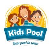 Aqua park swimming pool logo design Royalty Free Stock Photos