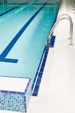 Aqua park - swimming pool with stairs Stock Images
