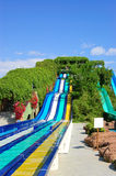 Aqua park water attractions. Antalya, Turkey Stock Photo