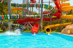 Aqua park, water park Royalty Free Stock Photos